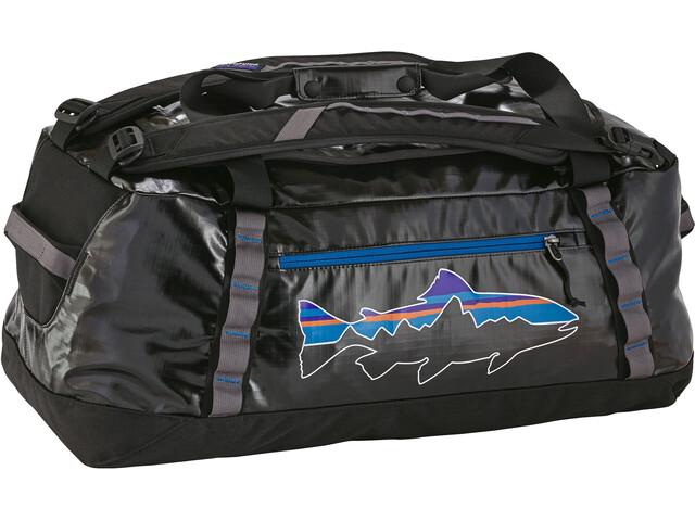Patagonia Black Hole Duffel Bag 60L, black w/fitz trout